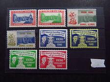 USA 8 Stamps Cinderellas Viking Home Gurnee Illinois  Scholarship Fund