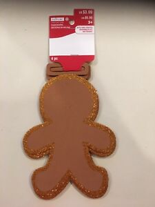 "Creatology Christmas Foam Shaped Gingerbread Man 4pc 8"" x 6"" New"