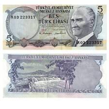 Turkey/Turkey 5 Lira 1970 Pick 185 Unc 816891 #