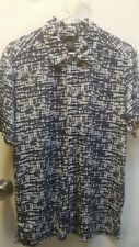 Mens Kenneth Cole New York Shirt Sz small Button Front Short Sleeve
