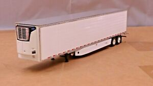 dcp white tandem axle reefer trailer new no box 1/64.