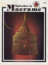 Vtg Splendor in Macrame Book Jute Tiffany Lamp Lampshade & Plant Hanger Patterns