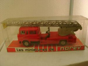 NOREV #97 1:43 BERLIET GBK18 ECHELLE MAGIRUS DL30H POMPIER FIRE ENGINE TRUCK NEW