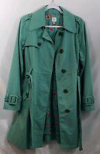 LC Lauren Conrad Womens Teal Green Trench Coat Size 12