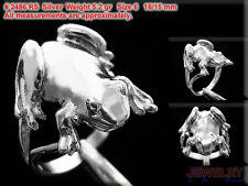 #2486 FROG Ring water Jump Lake Animalia Finger Hand Jewelry 925 Sterling Silver