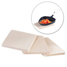 Raclette-Brettchen, 8er Set FSC-zertifizierte Buche Untersetzer Brett Holz