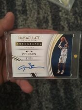 2015-16 Allen Iverson Immaculate Autographs 3/35 Auto Jersey Number 1/1 Sixers
