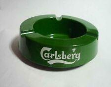 """Malaysia CARLSBERG BEER Melamine Green ASHTRAY 1.25"""" Tall and 5"""" dia Design 2012"""