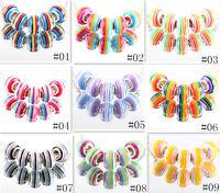 NEW 20pcs Silver resin LAMPWORK fit European Charm Bracelet Beads DIY