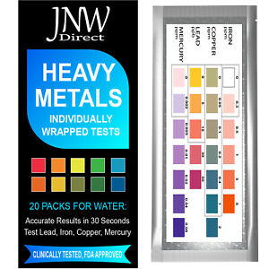 Heavy Metals Test, Drinking Water Testing Kit for Lead, Iron, Copper and Mercury