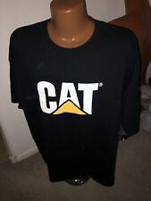 CAT Caterpillar Black T Shirt Size 3X EUC