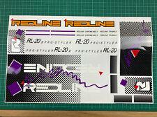 old school bmx decals stickers redline rl20ii rl20 squiggle hazard whte lavender