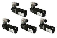 5x 110V AC Solenoid Air Pneumatic Control Valve 3 Port 3 Way 2 Position 1/8
