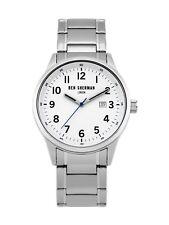 Ben Sherman WB065SM Men's Quartz Watch Stainless Steel White Dial 43MM