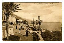 CPA 06 Alpes-Maritimes Monté-Carlo Casino Les Terrasses animé