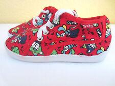 coole Gufo Kinder Schuhe Sommerschuhe Stoffschuhe Gr. 26 rot Sneaker Retro Junge
