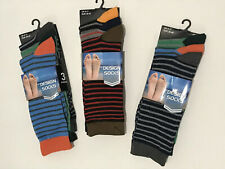 3 x 3-Pack Mens Multicoloured Striped Socks UK6-11 Polyester/cotton