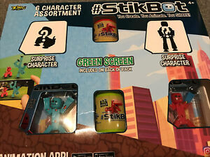 Zing StikBot Figures - Pack of 6 Character Assortment