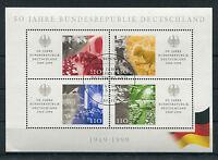 Bund Block 49 gestempelt ETSST Bonn BRD 50 Jahre Bundesrepublik used