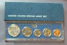 """1966-S.M.S. """"SPECIAL MINT SET""""  ONE SET FROM SHIPPING BOX PROOF-LIKE SILVER HALF"""