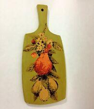 VTG Progressus W. Germany Green Decoupage Cutting Board Kitschy Kitchen Decor