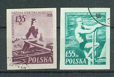 Polonia sellos 1955 juventud-sport firmemente juegos mi.nr.938+939