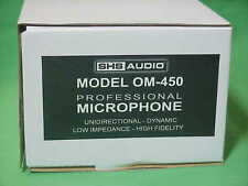 SHS Audio ~ OM-450L ~ Vocal Mic ~ Instrument Mic ~ Live Band ~ Recording ~ Lo-Z