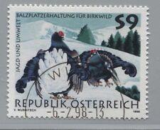 Österreich 2244 Jagd und Umwelt II Balzende Birkhühner (Lyrurus Tetrix) 1998 °