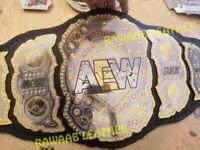 AEW World Heavyweight Championship Belt 2mm Brass Adult Size Wrestling Title