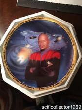 Star Trek Power of Command-Captain Sisko & Defiant Rare First Production Plate