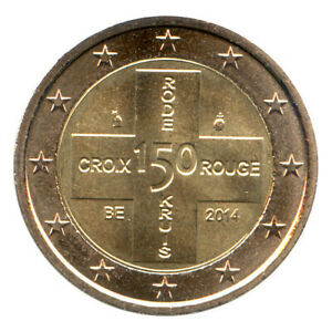2 Euro Münze Belgien 2014 Rotes Kreuz Gedenkmünze Sondermünze