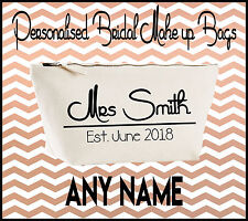 Personalised Make Up Accessory Bag Wedding Bridal Party Brides Bag Bridesmaids