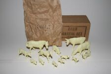 1950's Marx Farm Animal Set with Original Box, Nice Original