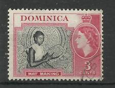 Dominica 1954 Sg 144, 3c Black & Carmine, Very fine used. [639]