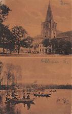 Gruß aus Soldin / Myślibórz Dom, See, Botsfahrt Postkarte