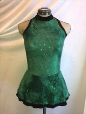 Green Black Figure Ice Skating Competition Dress