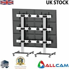 ACFVW346T 2.15m-tall Exhibition Display Stand TV Trolley Floor Stand Video Wall