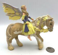 Schleich Bayala Fairy Elf Sera on Horse Fantasy Figures 2006 Retired 70402