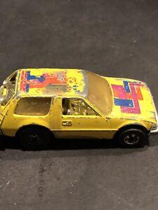Vintage 1977 Hot Wheels Packin' Pacer Yellow Made Hong Kong Used
