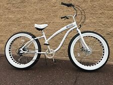 Fat Tire Beach Cruiser Bike-Ladies STORM TROOPER  🌴  -7 SPEED-CUTOUT RIMS -SIKK