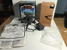 Vintage Star Wars Mini Rig Tri Pod Laser Cannon In Its Box With Instructions