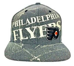 Philadelphia Flyers Gray Splat Adjustable Hat 3D Logo Flat Brim NHL by CCM NWT