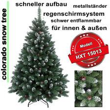 210 cm künstlicher Weihnachtsbaum Christbaum Tannenbaum, Deko mit Schnee