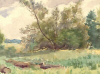 R.K.H. Jones - Mid 20th Century Watercolour, Down by the River at Stopham