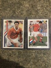 Marco Van Basten Netherlands 1994 World Cup Soccer Cards 🔥📈 AC Milan Ajax