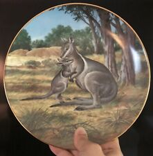 """Vintage W.S. George - Will Nelson """"THE BRIDLED WALLABY"""" Plate"""