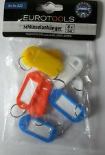 8 Stk. Schlüsselschilder zum Beschriften / Schlüsselanhänger