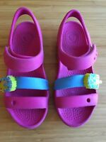 cb75d1ef969cc CROCS Crocband II Hot Pink Keeley Sweets Light Up Ice-Cream K Sandal Shoes  13
