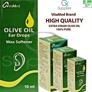OLIVE OIL EAR DROPS 1-10x 10ml ⭐100% PURE OLIVE OIL⭐MULTIBUY DISCOUNT⭐⭐EAR WAX⭐