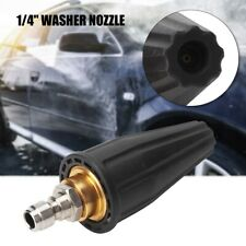 """High Pressure Washer Rotating Turbo Spray Nozzle 1/4"""" Quick Connect ABS + Metal"""